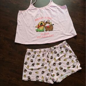 Timon and Pumbaa Cami set-  The Lion King